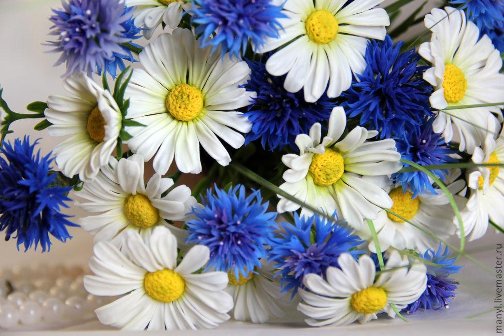Открытка с полевыми цветами на день рождения 768